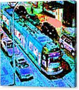 Blue Trolley Portland Canvas Print