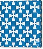 Blue Twirl Canvas Print