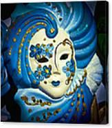 Blue Venetian Mask Canvas Print