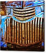 Blue Vintage Car Canvas Print