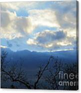 Blue Wall Clouds 4 Canvas Print