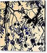 Blue Walnuts Canvas Print