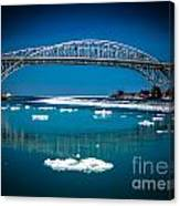Blue Water Bridge Reflection Canvas Print