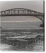Blue Water Bridges Canvas Print