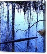 Still Blue Water Is My Mirror  Canvas Print