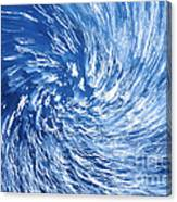 Blue Water Twister Abstract Canvas Print