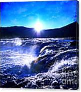 Blue Waterfall Canvas Print