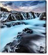 Blue Waterfalls Canvas Print