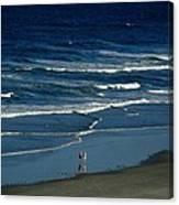 Blue Wave Walking Canvas Print