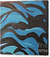 Blue Waves Of Healing Canvas Print