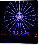 Blue Wheel Of Fortune Canvas Print