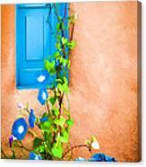 Blue Window - Painted Canvas Print