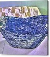 Blue Woven Basket Canvas Print