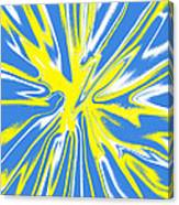 Blue Yellow White Swirl Canvas Print