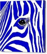 Blue Zebra Eye Canvas Print