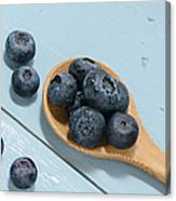 Blueberries On A Spoon Canvas Print
