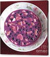 Blueberry And Banana Soup Canvas Print