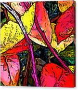 Blueberry Autumn Leaves Canvas Print