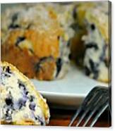 Blueberry Bundt Cake Canvas Print