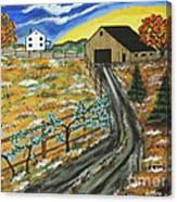 Blueberry Farm Canvas Print