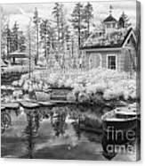 Blueberry Pond  Canvas Print