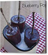 Blueberry Popsicles Canvas Print