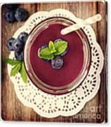 Blueberry Smoothie Retro Style Photo.  Canvas Print