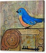 Bluebird Art - Knowledge Is Key Canvas Print