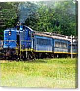 Bluebird Train Canvas Print