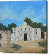 Bluebonnets At The Alamo Canvas Print