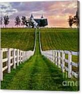Bluegrass Farm Canvas Print