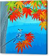 Bluejay In The Fall Canvas Print