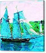 Bluenose Schooner In Halifax Canvas Print