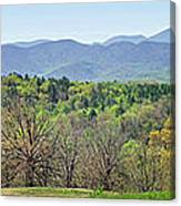 Blueridge Mountains In The Spring Canvas Print