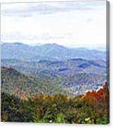 Blueridge Parkway View 2 At Mm 404  Canvas Print
