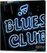 Blues Club On Bourbon Street Nola  Canvas Print