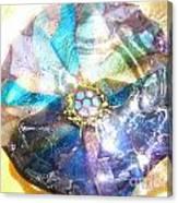Blues Mandala Bowl Canvas Print
