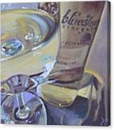 Bluestone Traminette And Glass Canvas Print