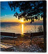 Bluff  Benches Canvas Print