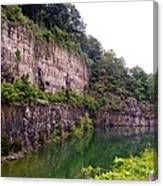 Bluffs Near Marina Norris Dam State Park Canvas Print