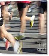 Blurred Marathon Runners Canvas Print