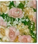 Blush Beige Floral Canvas Print