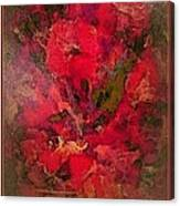 Blushing Red Flowers  Canvas Print