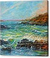 Blustery Day At Keehi Lagoon Canvas Print