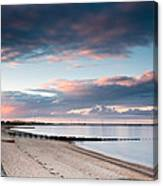 Blyth Harbour At Sunset Canvas Print