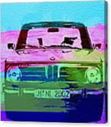 Bmw 2002 Front Watercolor 1 Canvas Print