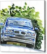 Bmw E38 Canvas Print