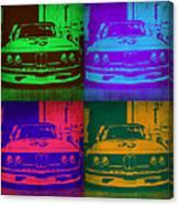 Bmw Racing Pop Art 1 Canvas Print