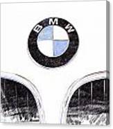 Bmw Z3 Emblem Sketch Canvas Print