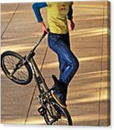 Bmx Flatland Ride - Wonderful Warm Light Canvas Print